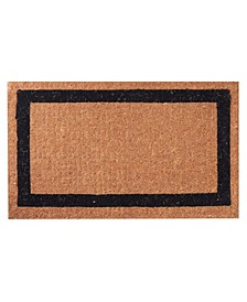 "Non-Slip Extra Thick Coco Classic Black Border Welcome Doormat, 24"" x 39"""