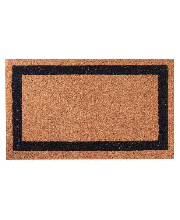 "Envelor Non-Slip Extra Thick Coco Classic Black Border Welcome Doormat, 24"" x 39"""