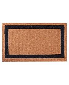 "Non-Slip Extra Thick Coco Classic Black Border Welcome Doormat, 30"" x 48"""