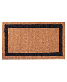 "Envelor Non-Slip Extra Thick Coco Classic Black Border Welcome Doormat, 30"" x 48"""