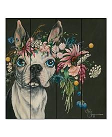 """Boston Terrier 12"""" x 12"""" Wood Pallet Wall Art"""