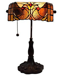Tiffany Style Banker Table Lamp