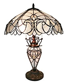 Tiffany Style 2-Light Floral Table Lamp