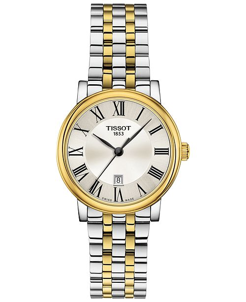 Tissot Women's Swiss Carson Premium Two-Tone Stainless Steel Bracelet Watch 30mm