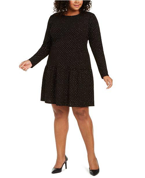Michael Kors Plus Size Embellished Drop Waist Dress Reviews