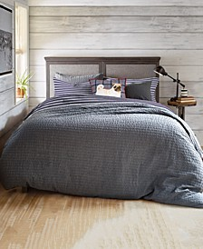 G.H. Bass Textured Flannel Stripe Full/Queen Comforter Set