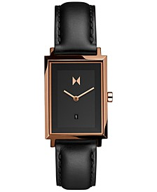 Women's Blair Signature Black Leather Strap Watch 24mm