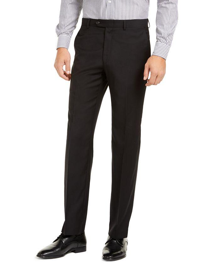 Lauren Ralph Lauren - Men's Slim-Fit UltraFlex Stretch Black Solid Suit Pants