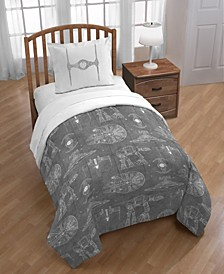 Reversible 3-Piece Twin/Full Comforter Set