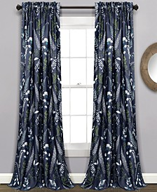 "Devonia Botanical Print 52"" x 84"" Curtain Set"