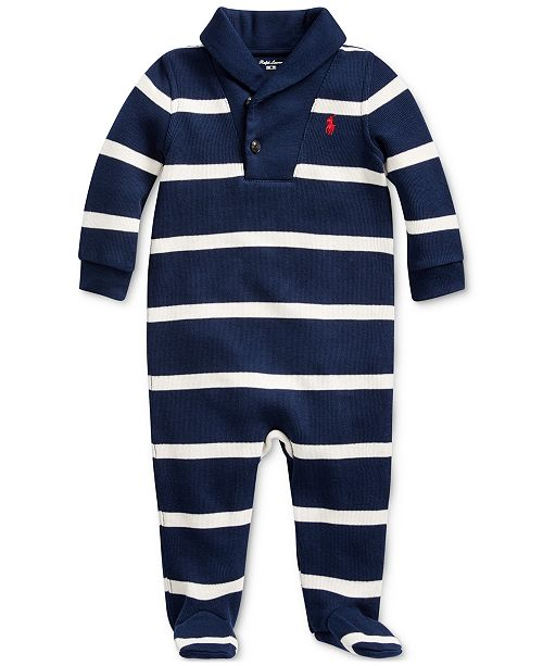 Polo Ralph Lauren Baby Boy's Striped French-Rib Coverall
