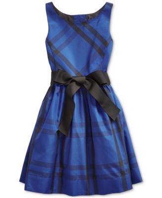 Toddler Girl's Plaid Taffeta Dress