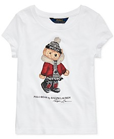 Toddler Girl's Holiday Bear Cotton Jersey T-Shirt
