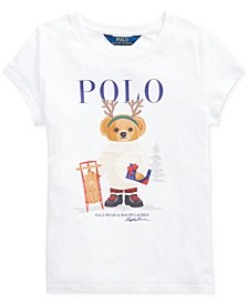 Big Girl's Reindeer Bear Cotton T-Shirt