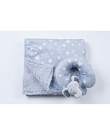 Travel Pillow and Blanket Set, Crib