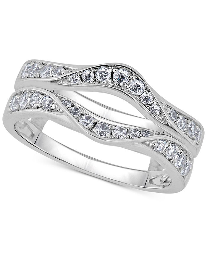 Macy's - Diamond Double Countour Enhancer Ring (5/8 ct. t.w.) in 14k White Gold