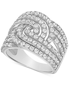 Diamond Open Row Statement Ring (2 ct. t.w.) in 10k White Gold