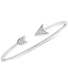 Diamond Arrow Cuff Bracelet (1/10 ct. t.w.) in Sterling Silver