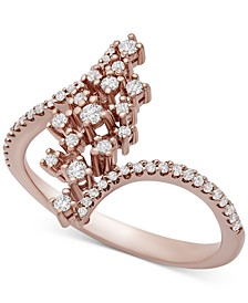 Diamond Scatter Cluster Statement Ring (1/4 ct. t.w.) in 10k Rose Gold