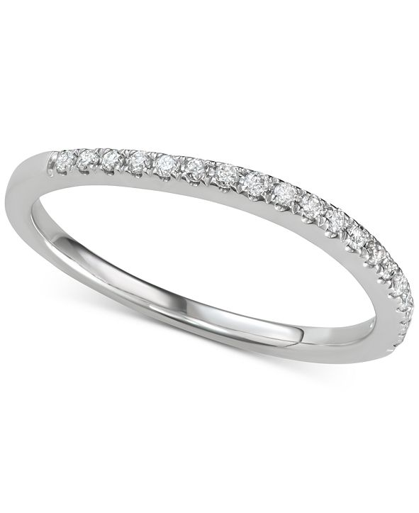 Macy's Diamond Wavy Band (1/6 ct. t.w.) in 14k White Gold