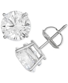 Certified Diamond Stud Earrings (1 ct. t.w.) in 14k White Gold
