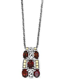 "EFFY® Rhodolite Garnet 18"" Pendant Necklace (4-3/8 ct. t.w.) in Sterling Silver & 18k Gold"