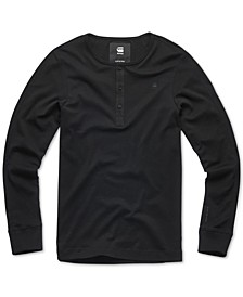Men's Long-Sleeve Slim-Fit Henley, Created For Macy's