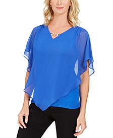 Asymmetrical Chiffon Top, Created For Macy's