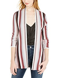 INC Petite Striped Open-Front Cardigan, Created For Macy's