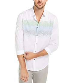 Men's Classic-Fit Abstract-Stripe Shirt, Created For Macy's