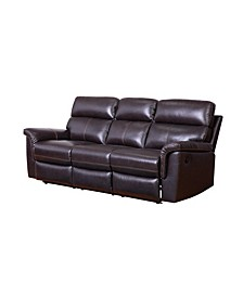 "Kenley 87"" Leather Recliner Sofa"