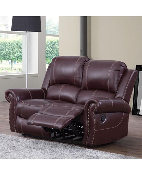 Swell Calvin Leather Recliner Loveseat Unemploymentrelief Wooden Chair Designs For Living Room Unemploymentrelieforg