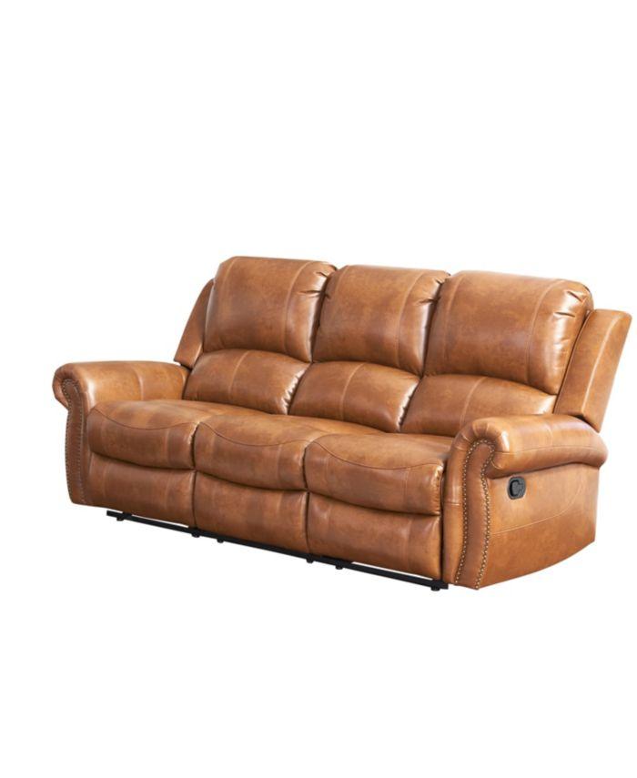 """Furniture Calvin 86"""" Recliner Sofa & Reviews - Furniture - Macy's"""