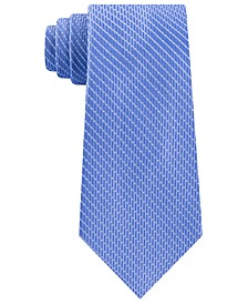 Men's Classic Dash Stripe Satin Tie