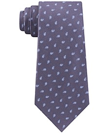 Men's Outlined Pine Classic Paisley Neat Silk Tie