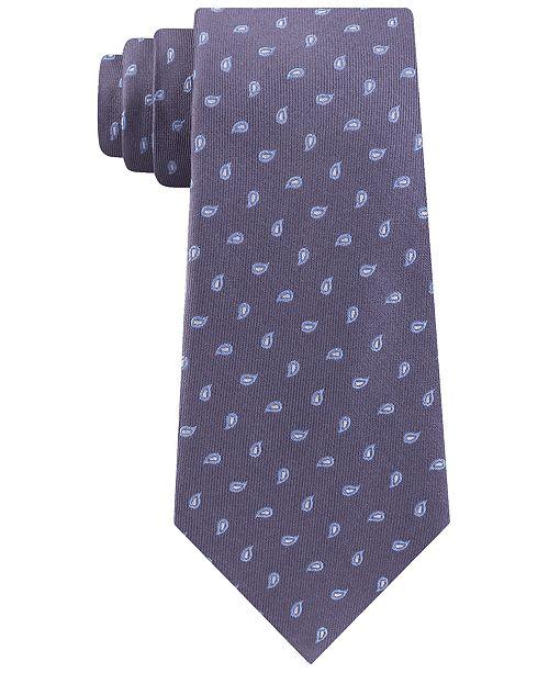 Michael Kors Men's Outlined Pine Classic Paisley Neat Silk Tie