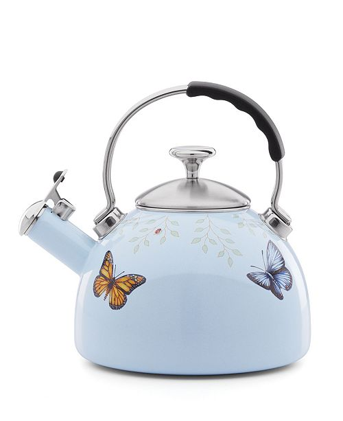 Lenox Butterfly Meadow Kitchen  2.5 quart Blue Tea Kettle,  Created for Macy's