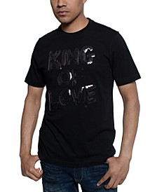Men's King Of Love Beaded T-Shirt