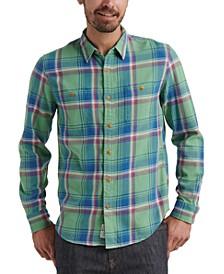 Men's Plaid Stretch Flannel Shirt