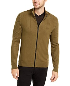INC Men's Samuel Zip-Front Cardigan, Created For Macy's