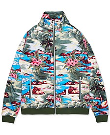 Men's Hiloha Tropical Pattern Track Jacket