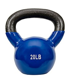 Sunny Health and Fitness Vinyl Coated Kettle Bell, 20 lbs