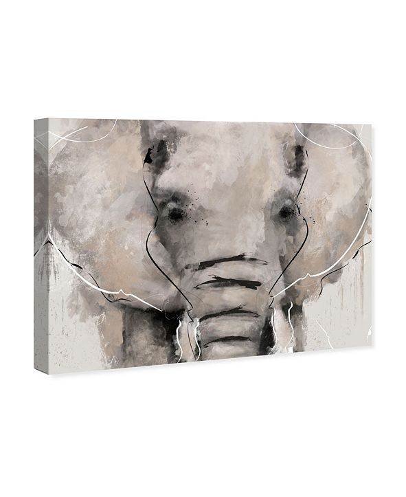 """Oliver Gal Abstract Elephant Canvas Art, 16"""" x 12"""""""