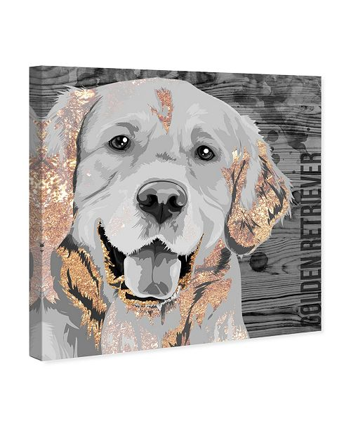 "Oliver Gal Love Golden Retriever Canvas Art, 12"" x 12"""