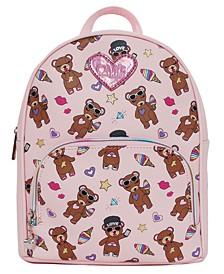 Stuffed Bear Print Backpack