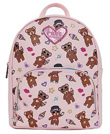 OMG! Accessories Stuffed Bear Print Mini Backpack