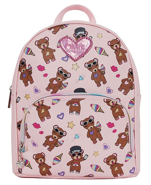 OMG! Accessories Stuffed Bear Print Mini Backpack