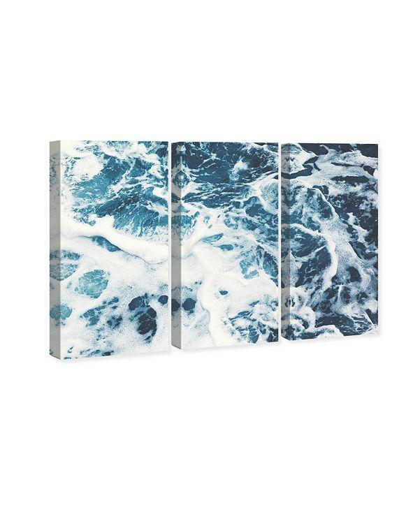 "Oliver Gal Mykonos Water I Triptych Canvas Art, 17"" x 36"""