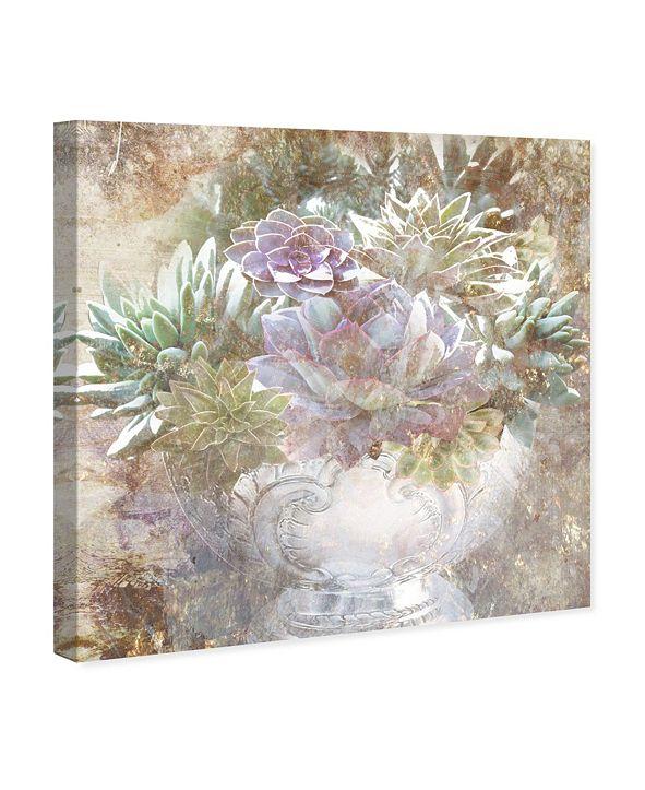 "Oliver Gal Serving Succulents Canvas Art, 16"" x 16"""