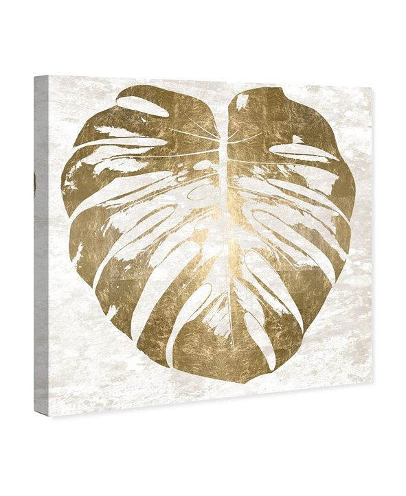"Oliver Gal Monstera Gold Leaf Canvas Art, 12"" x 12"""